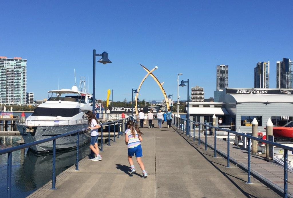 Walk up the Mariners Cove Marina to get to the boat