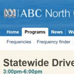 ABC Regional Radio interview