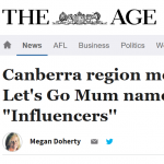 The Age Let's go Mum article