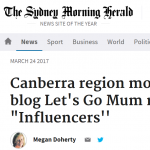 Sydney Morning Herald Let's go Mum article