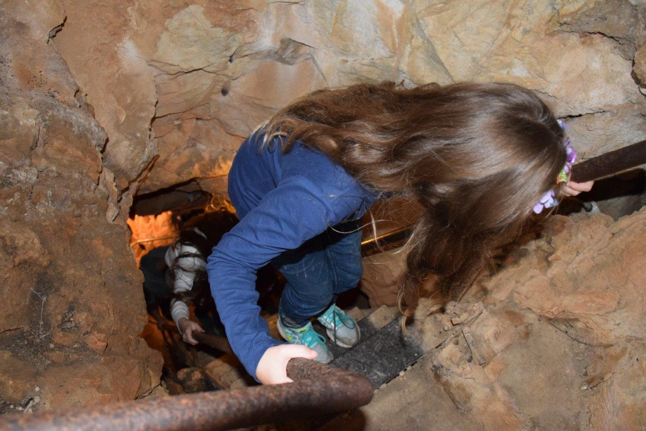 Down we go into the Junction Cave