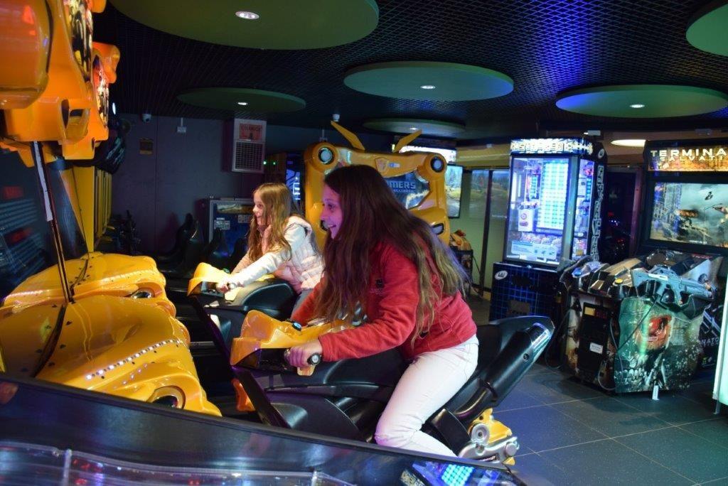 The fun games arcade on board Spirit of Tasmania
