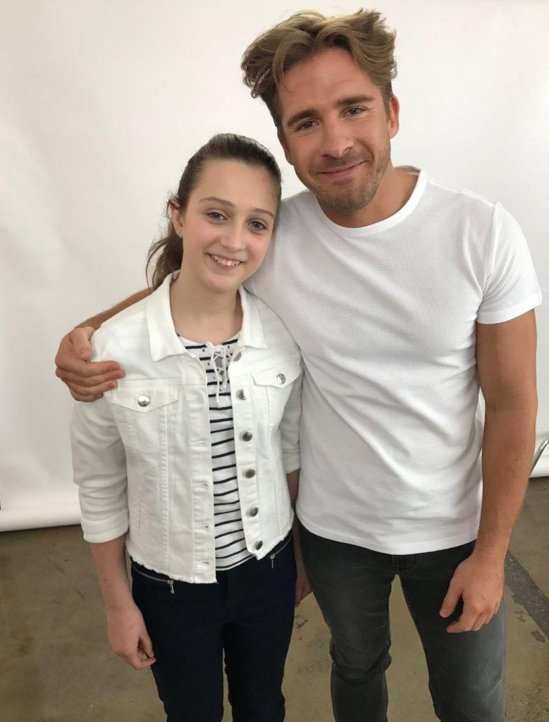 Brooke was in her element interviewing stars such as Hugh Sheridan and the Campbell sisters!