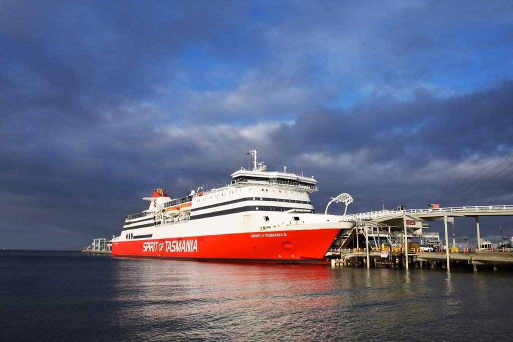 The Spirit of Tasmania, here docked at Port Melbourne, is a fabulous trip