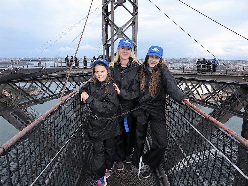 Crossing the top of the Harbour Bridge