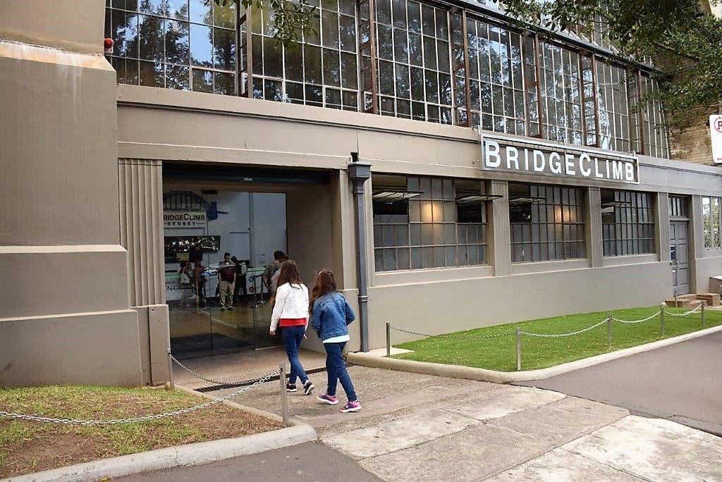 BridgeClimb Sydney is located under the Harbour Bridge approach