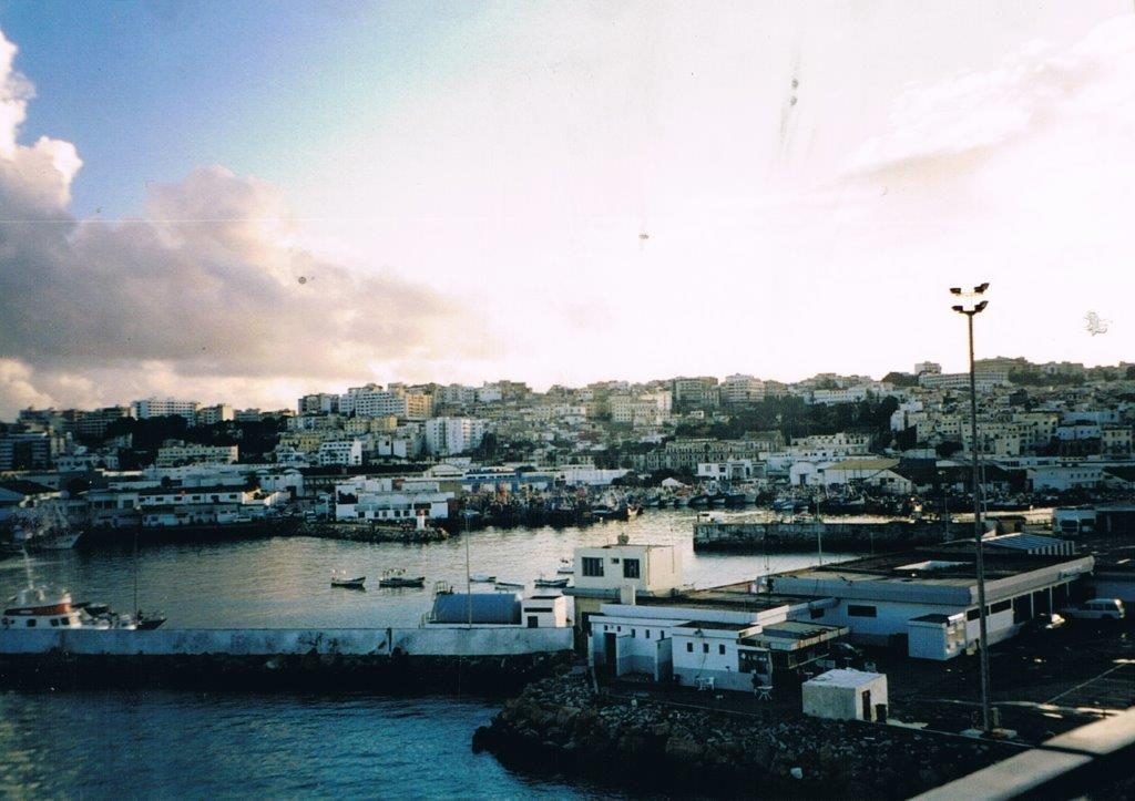 Stepping back in time - the port of Tangier, Morocco in 2002