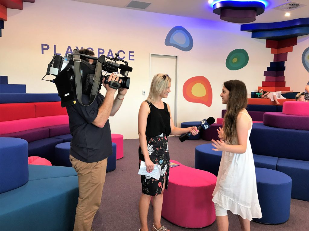 Brooke is interviewed about the new Canberra Centre Play Space