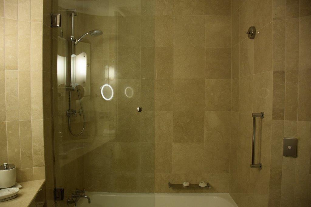 A beautiful Sofitel Sydney superior room marble bathroom ensuite