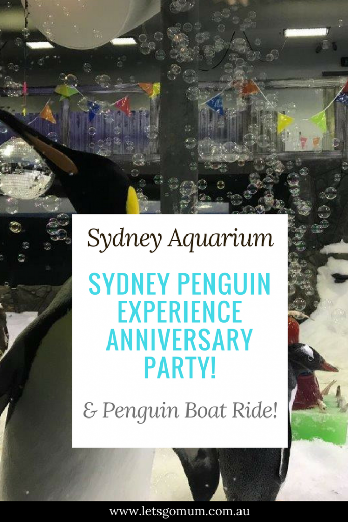 The Let's go Mum family were recently invited to attend the SeaLife Sydney, Australia Penguin's 1 Year Anniversary Party!