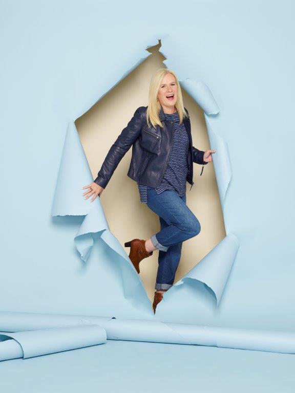 Indigo Leather Jacket, Fjord Blue Fine Stripe Tee & Classic Blue Boyfriend Jean