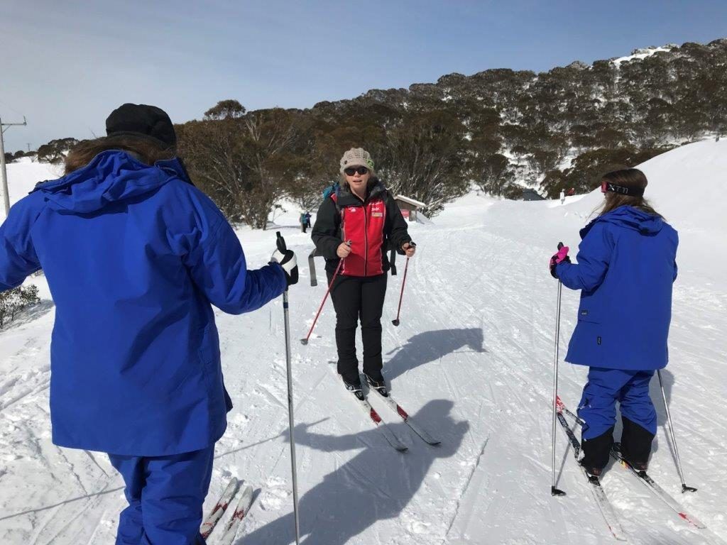 Falls Creek Cross Country teach beginner ski lessons