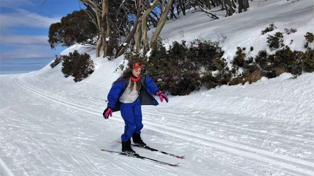 Kids pick up skiing quickly - this was Samantha's first cross country lesson