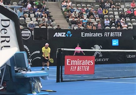 Lleyton Hewitt went very easy on the girls!