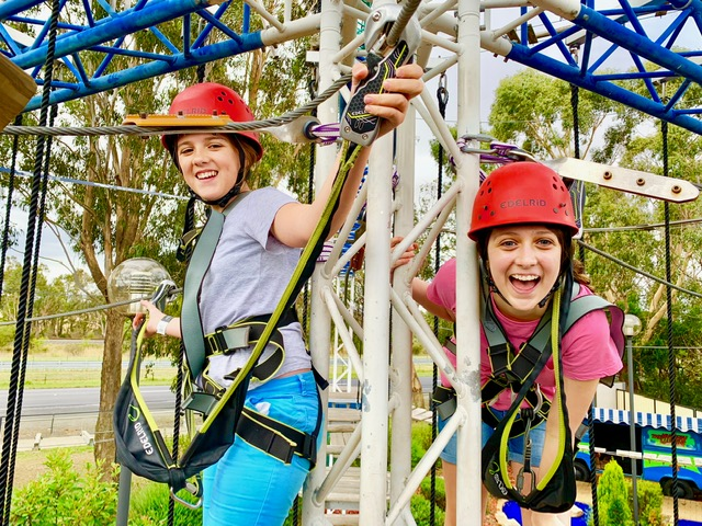 BIG4 Traralgon Park Lane Holiday Park high ropes course