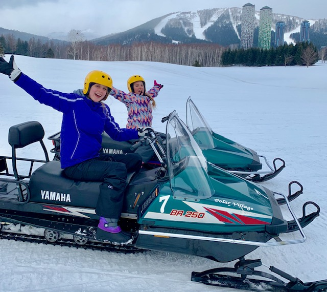 Kids can learn how to drive a snow mobile at the Gao Outdoor Activities Centre