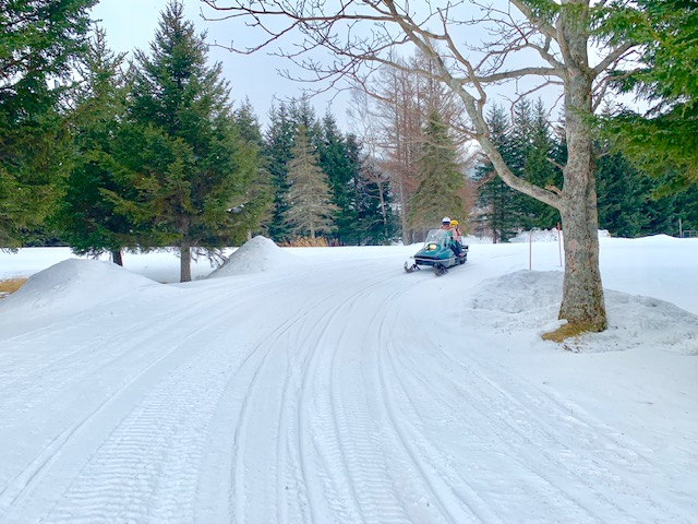 The Gao Outdoor Centre allows you to drive your own ski mobile