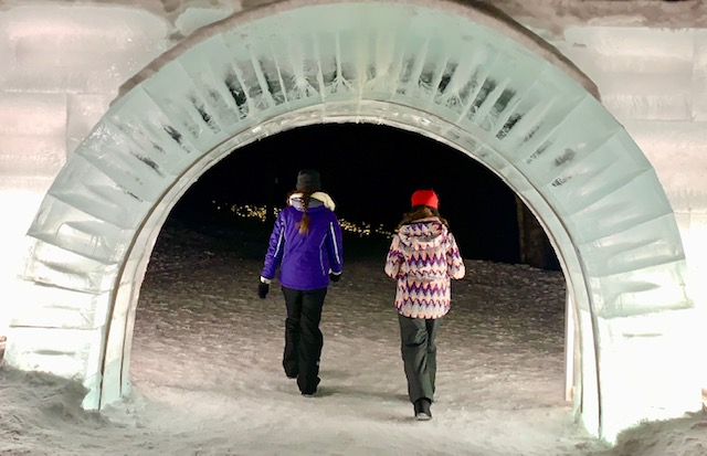 The Tomamu Ice Village ice entry arch
