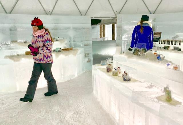 Take a stroll through the Ice Village shops
