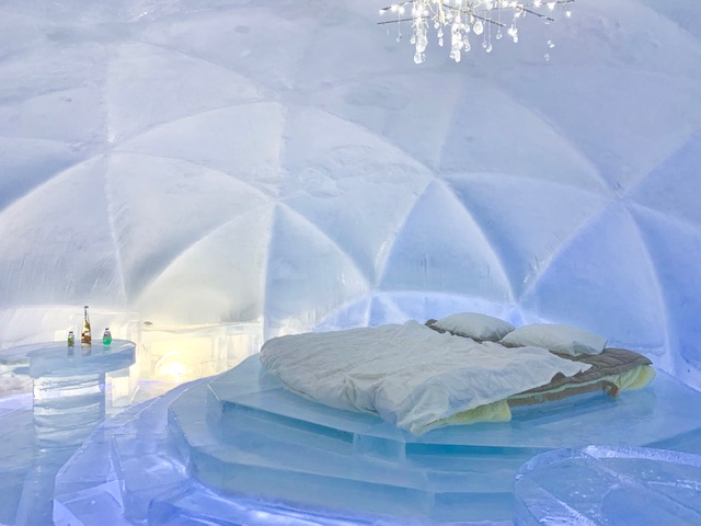The Ice Village hotel room - you can stay here!