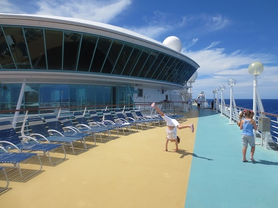 Fun on deck - there's plenty of room for the kids to play onboard