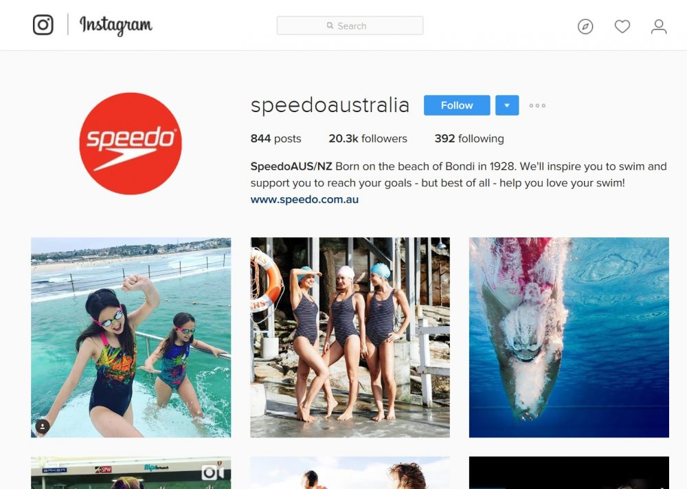 Let's Go Mum! featured on Speedo Australia Instagram