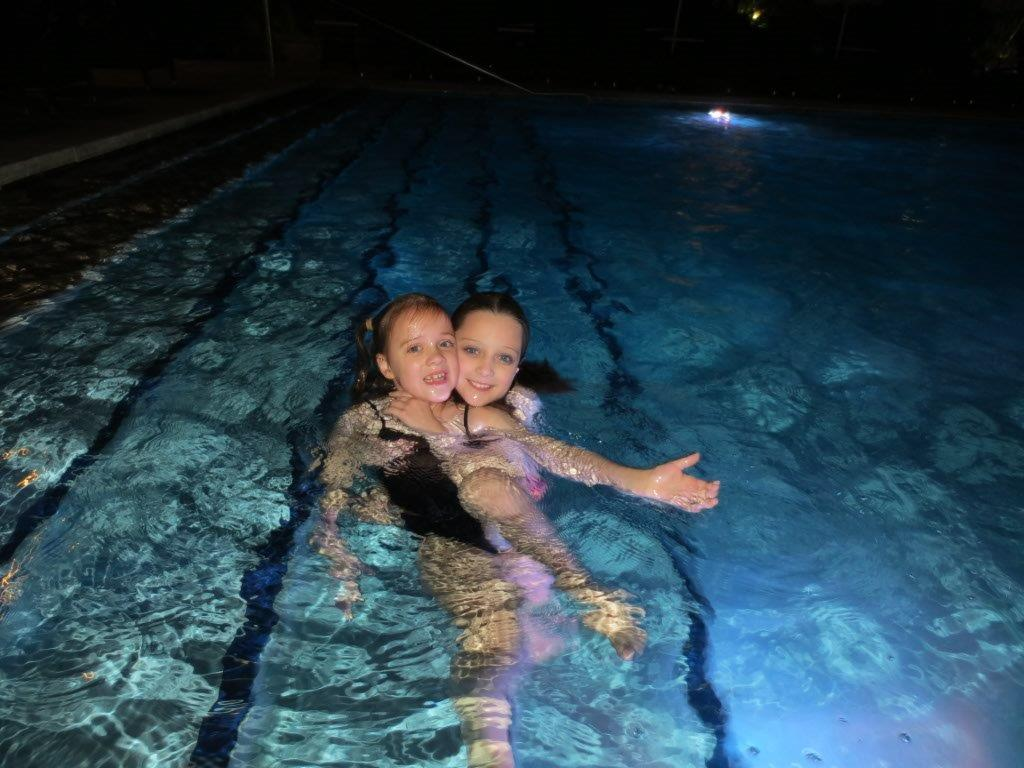 An evening dip in Jupiter's pool was a hit with the kids!