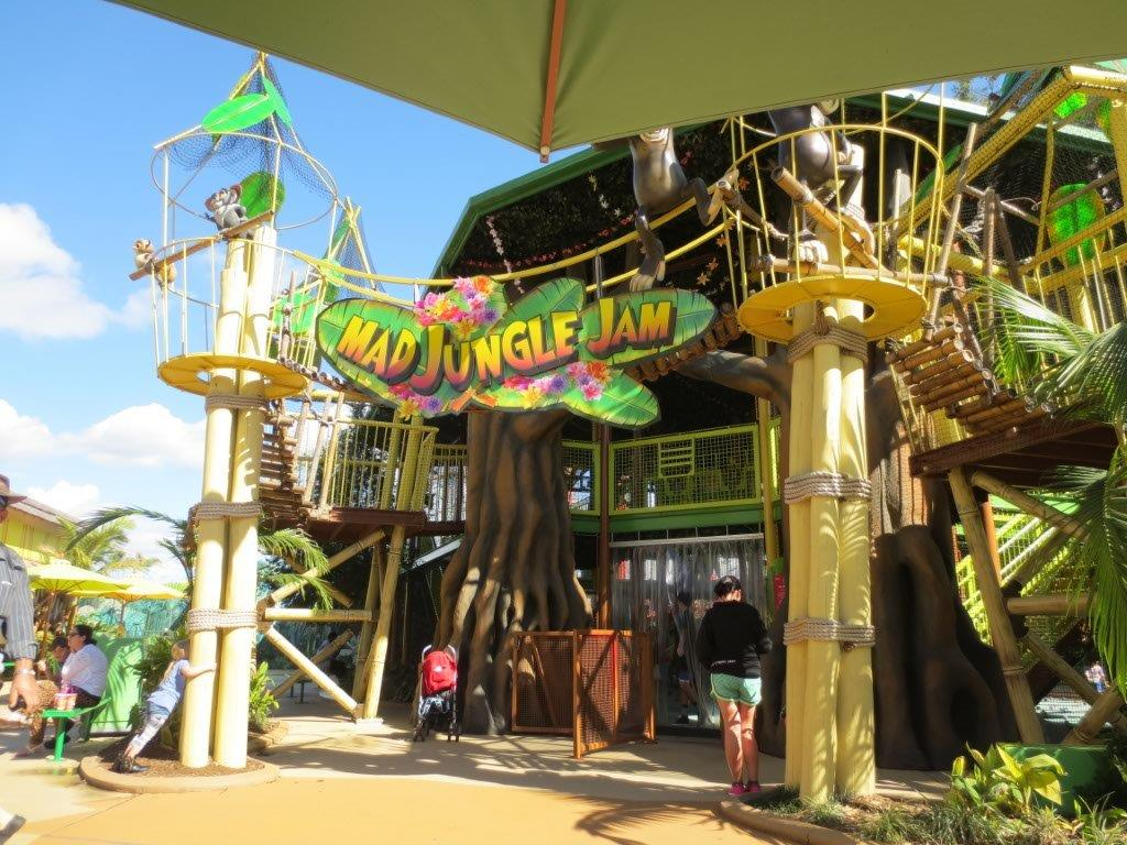 The kids had lots of fun playing in the Mad Jungle Jam playground