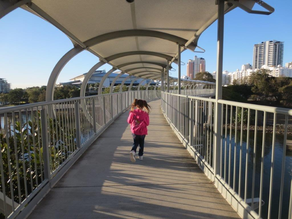 The covered walkway from Jupiters to the Convention Centre - I only ever saw the backs of my children on it!