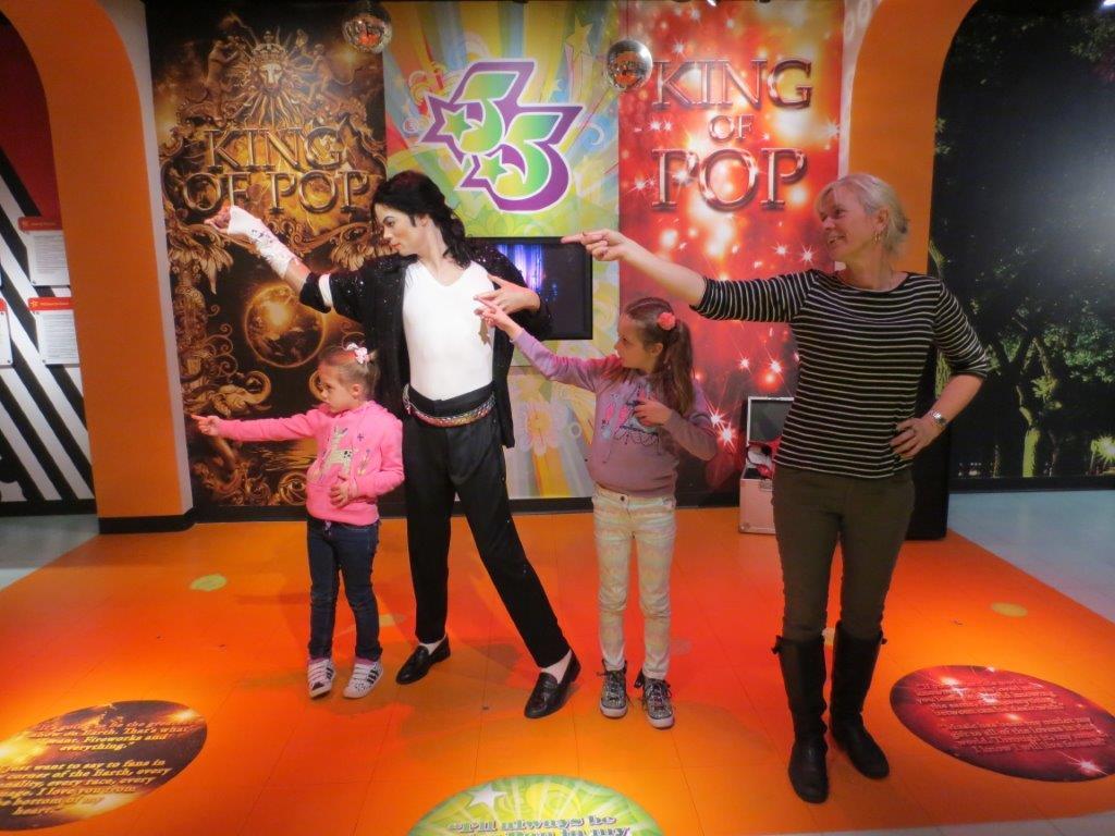 Michael Jackson - it's okay, he's just a wax dummy!