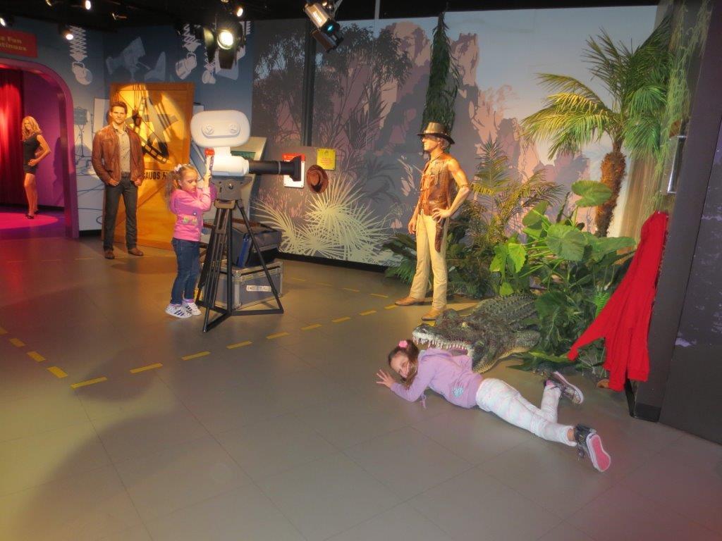 Action! The Crocodile Dundee wax dummy movie set!