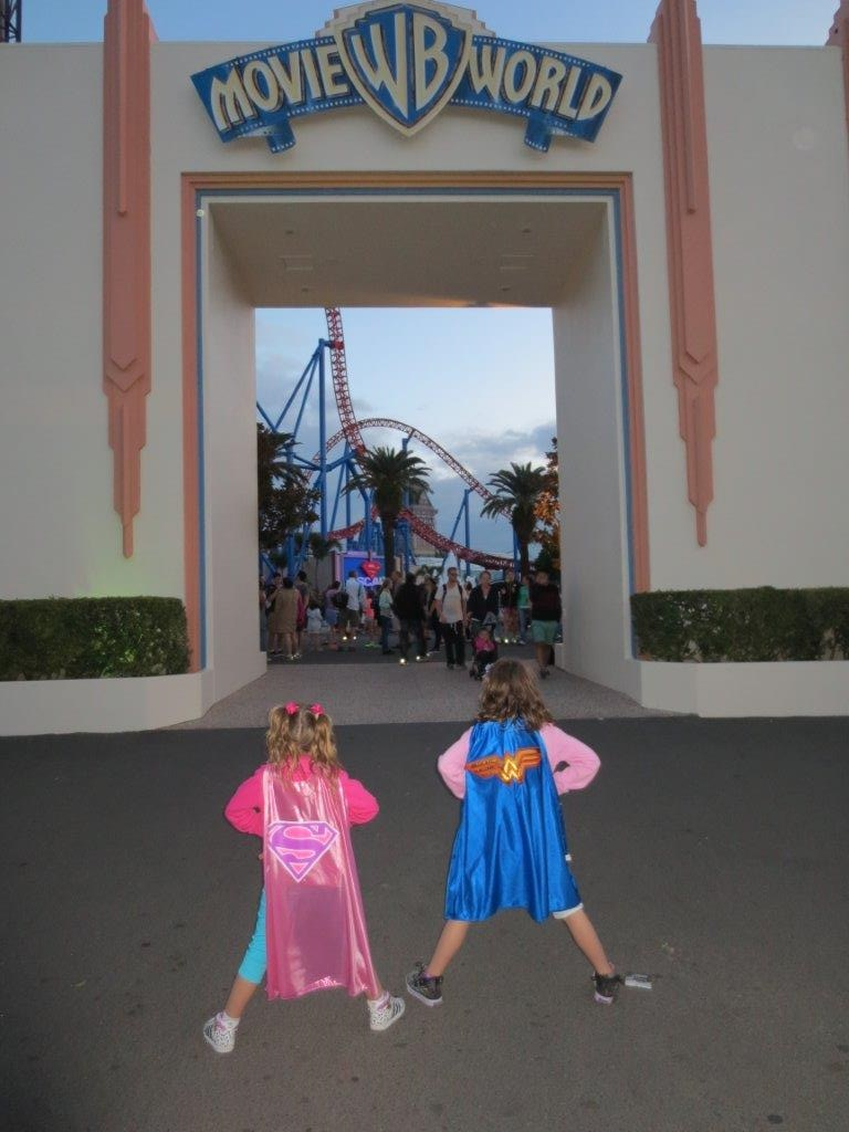 We entered Movie World mere girls and left - Super-Girls!