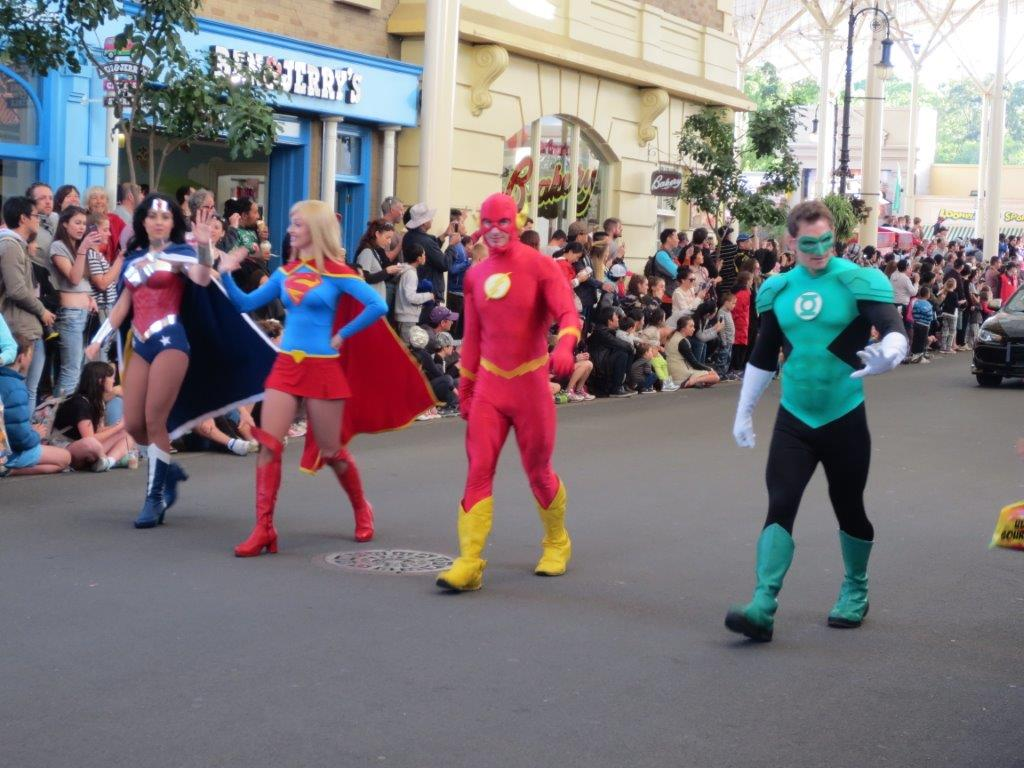 Bring on the super heros - it's the All Star Street Parade!