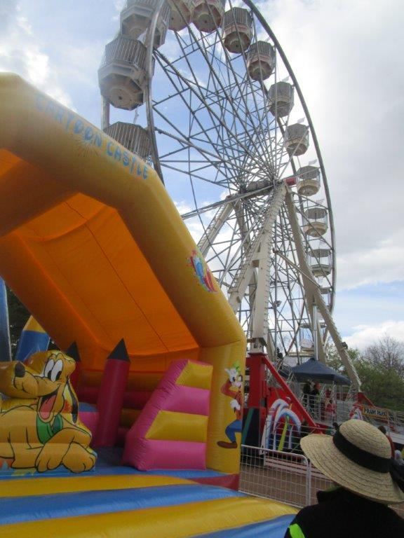 Hard for the kids - and adults - to resist - Floriade Carnival corner!