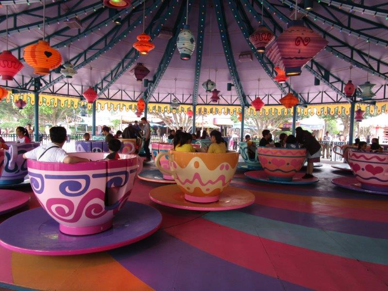 Take a spin on the Disney Tea-Cup ride - it's a Disney tradition!