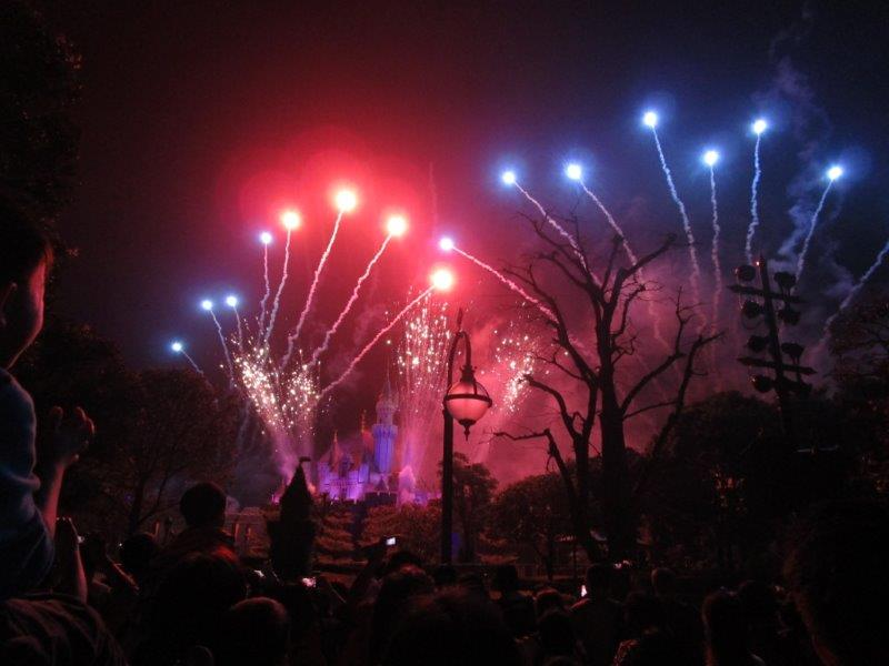 It's hard to imagine a more magical way end to the day than fireworks over the Disney castle
