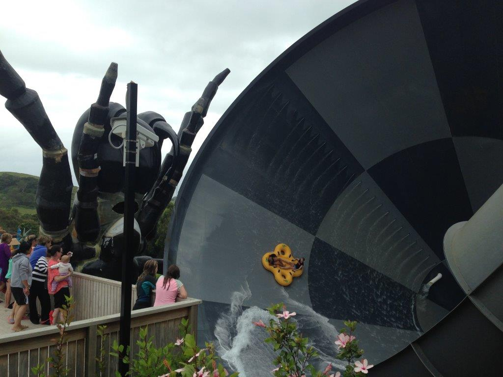 Even just watching the Funnel Web water slide is a little frightening!