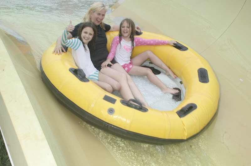 It was a big thumbs-up for the Taipan water slide!
