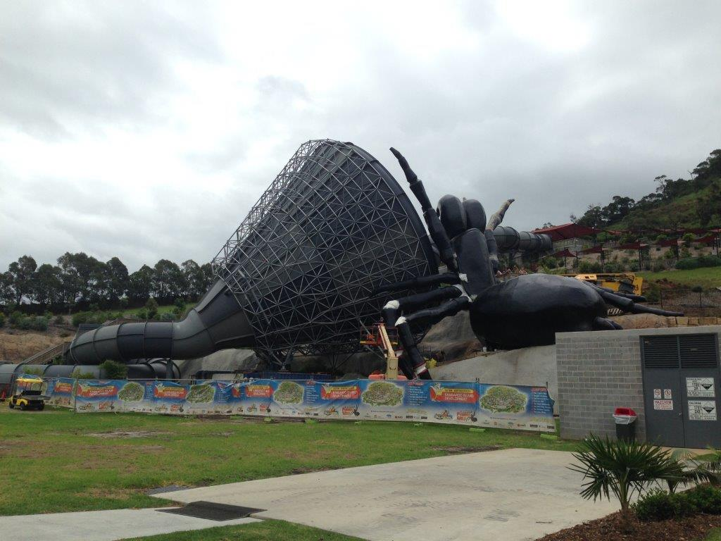 An imposing sight  - The Funnel Web water slide