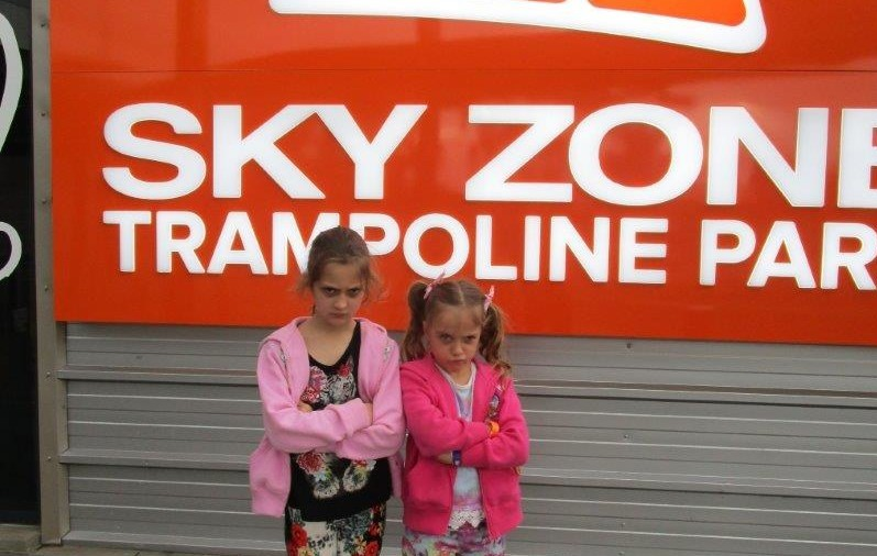 The kids ham it up for the camera when asked how they had liked Sky Zone Belconnen!
