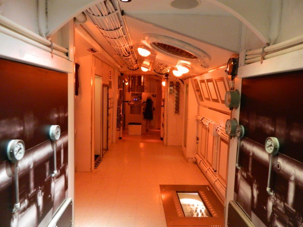 Kid's can play in a replica submarine interior, complete with radar, periscope and bunk-beds!