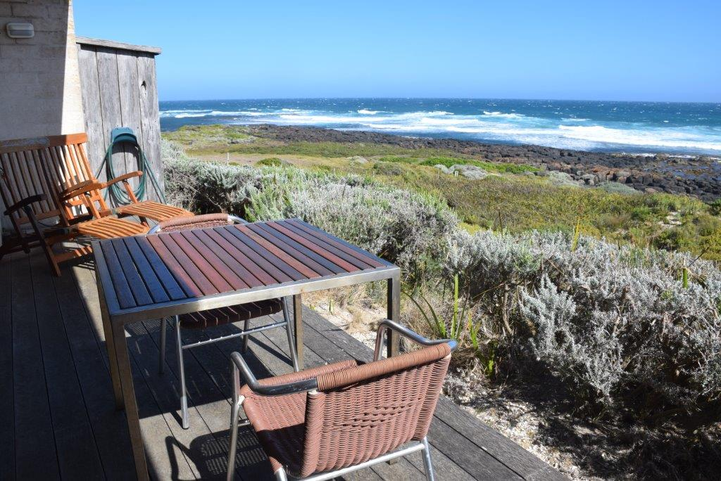 The deck is where you're going to spend a lot of time at Hearns Beach...