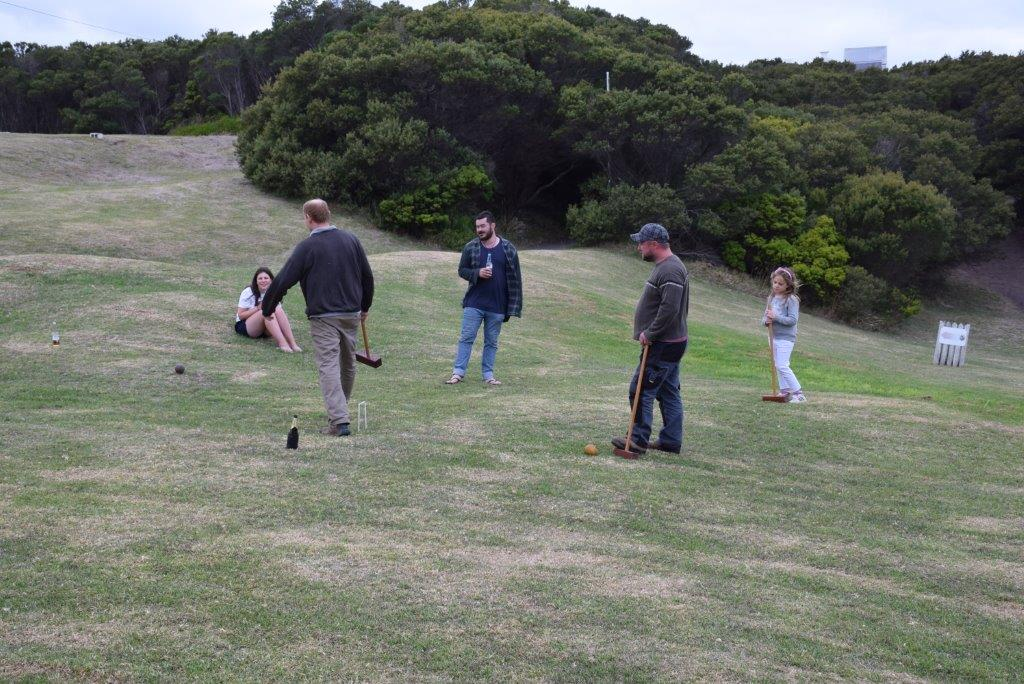Croquet, anyone? A great way to end the Cape Otway day!