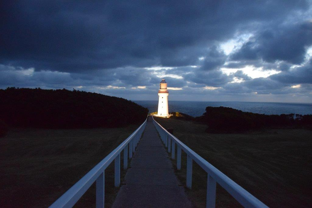 Cape Otway Lighthouse in the early evening