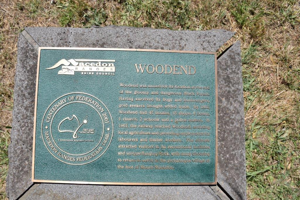 This Woodend plaque tells that Woodend was the end of the gloomy and dangerous Black Forest!