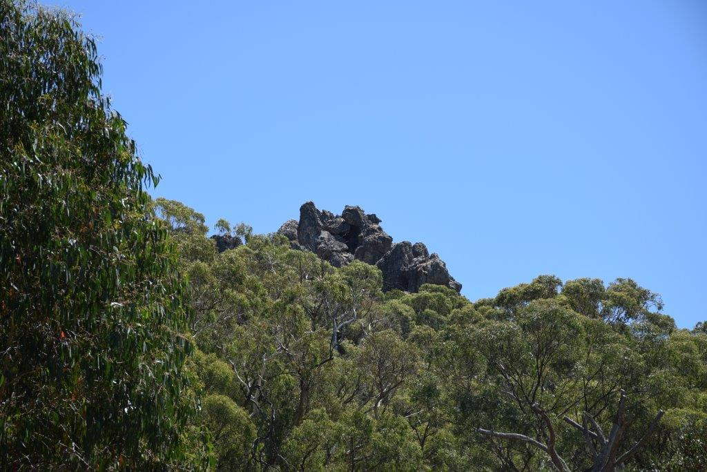 Hanging Rock looms over the tourist car park