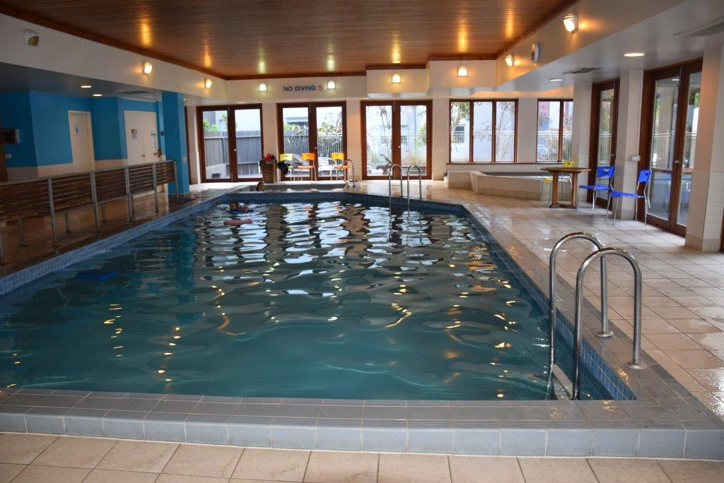 The indoor pool at the Cumberland Lorne Resort - warm in cold weather!