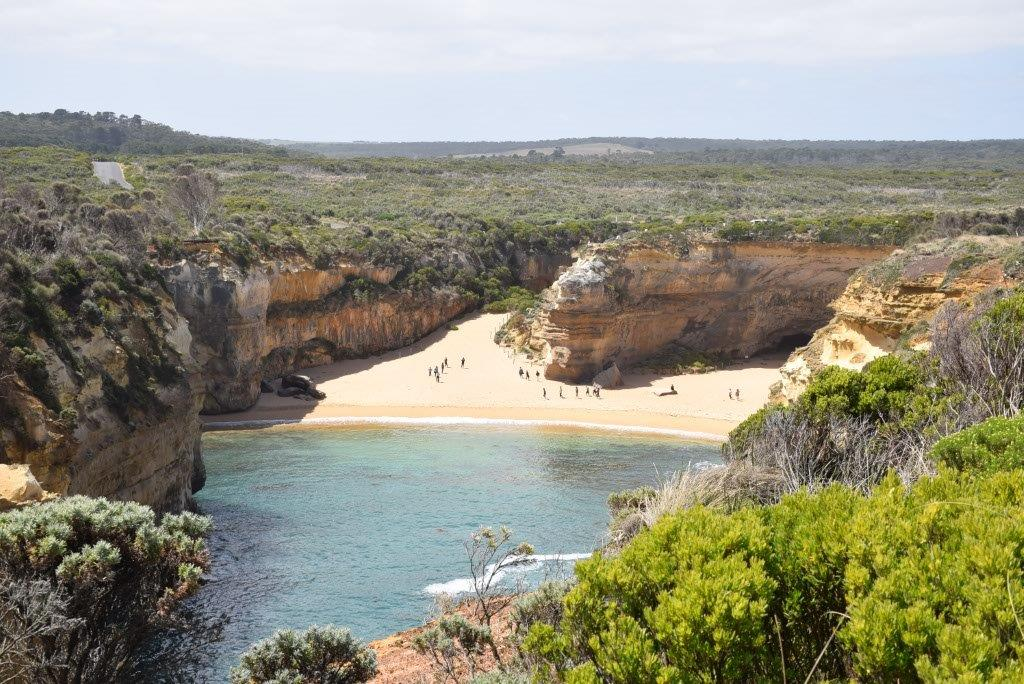 The Loch Ard Gorge where the two survivors sheltered