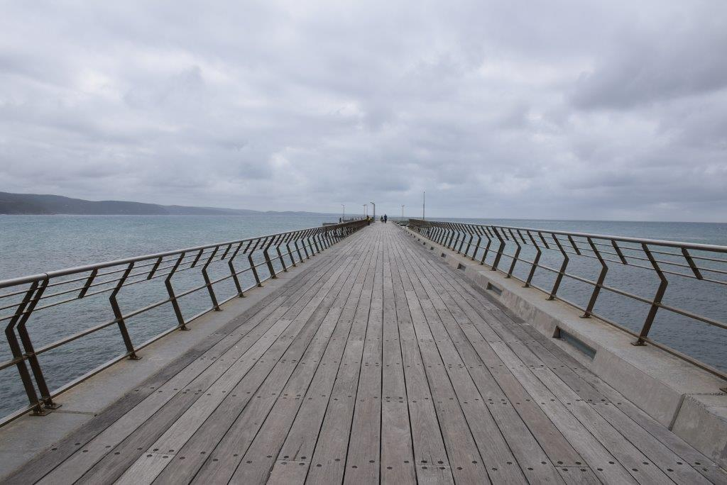 Lorne Pier extends right out to deep water where seals frolic