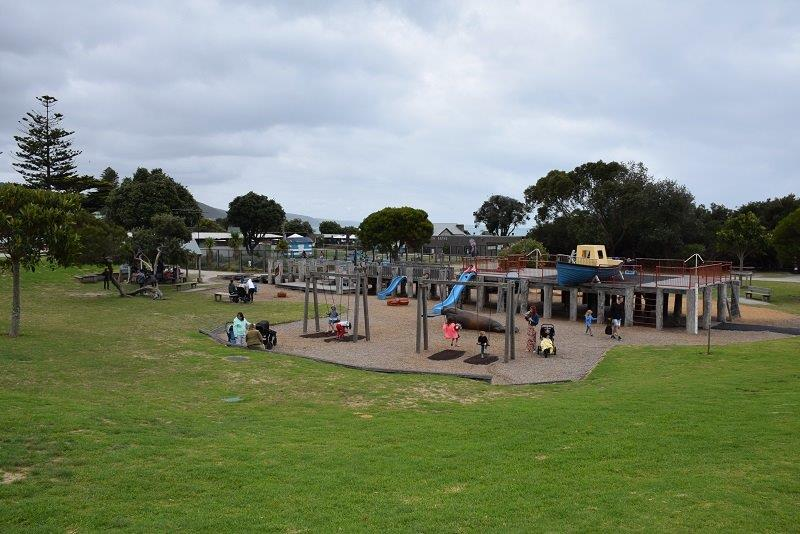 The Lorne beachfront council playground